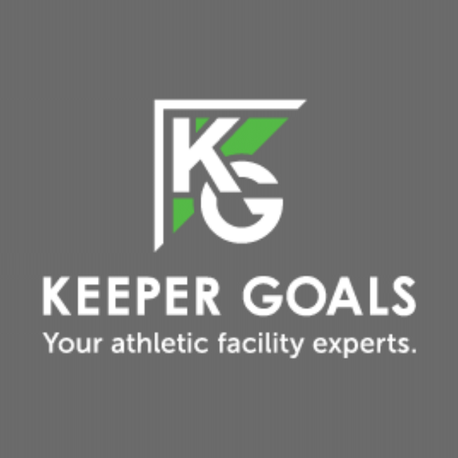 Keeper Goals new green white and gray logo.