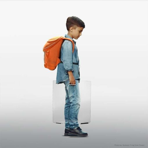 Model #SQ3092A. Student with plastic protective barrier.