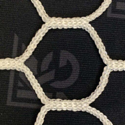 Model #NP2HEX3082448HP. Hexagon soccer net closeup.