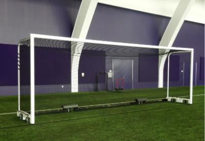 Keeper Goals custom soccer goal with wheels.