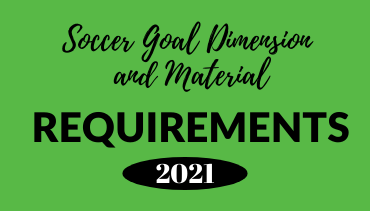Soccer goal size and material requirements