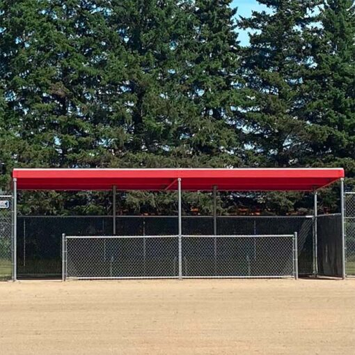 World Series Dugout with red top.