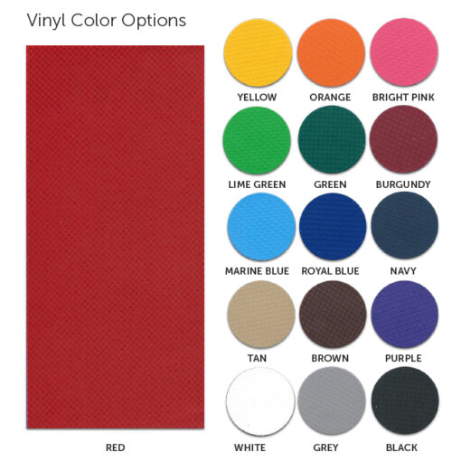 Outdoor padding color card.